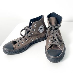 Converse Charcoal Gray High Tops Sneakers